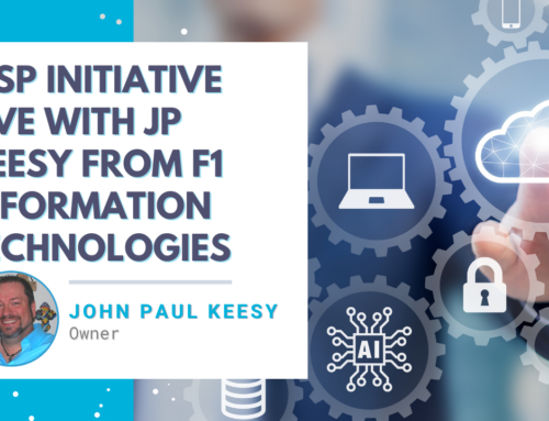 MSP Initiative LIVE with JP Keesy from F1 Information Technologies